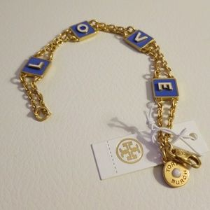 Tory Burch love logo bracelet